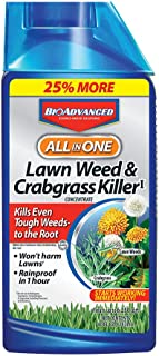 BioAdvanced 704140 All-In-One Lawn Weed and Crabgrass Killer Garden Herbicide, 40-Ounce