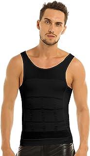 FEESHOW Men's Compression Vest Shirt Body Shaper Abdomen Slimming Shapewear