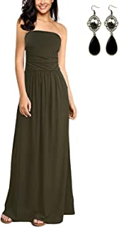 7091100ebec64 Amazon.fr : Robe Bustier Verte : Vêtements