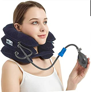 Inflatable Cervical Neck Traction Device 3 Layers-Instant Relief for Chronic Neck & Head Pain, Improve Spine, Provides Sho...