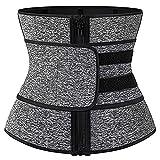 FGDJTYYJ CinturóN Recortador de Corsé de Entrenador Cintura de Sudor de Neopreno para Mujer, Faja Moldeadora de Cuerpo de Sauna Abdominal de RecuperacióN de Apoyo (Color : Gray, Size : L)