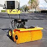 Stark 31'-Inch Gas-Powered Snow Sweeper Walk Behind Adjustable Angle Brush Broom 7HP Gas Engine EPA Motor