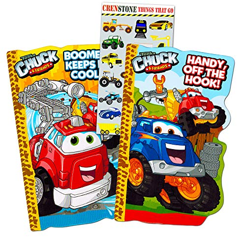 Tonka Trucks Board Book Set for Kids Toddlers (Set of 2 Tonka Trucks Board Books with Stickers)