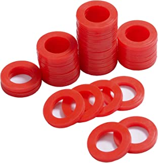PurDream Outdoor Garden Hose Silicone Washer Gasket, 60Pcs Red O-Rings Silicone Washer Gasket Combo Pack for 3/4 Inch Garden Hose and Water Faucet