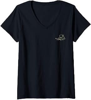 Femme Netflix Stranger Things He Likes It Cold Left Chest T-Shirt avec Col en V