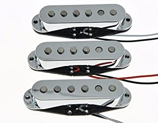 Dopro Set of 3 Chrome Alnico 5 N/M/B Single Coil Pickups ST Strat SSS Guitar Pickup Set