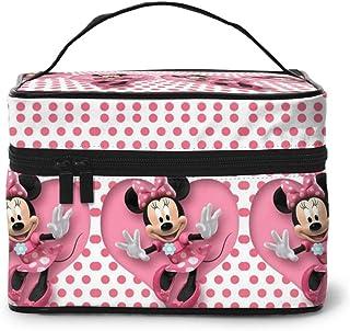 Bolsa de maquillaje, bonita bolsa de cosméticos portátil de Minnie Mouse, bolsa grande de malla, organizador de brochas para mujeres y niñas: Amazon.es: Equipaje