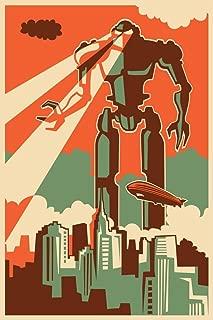 retro robot print