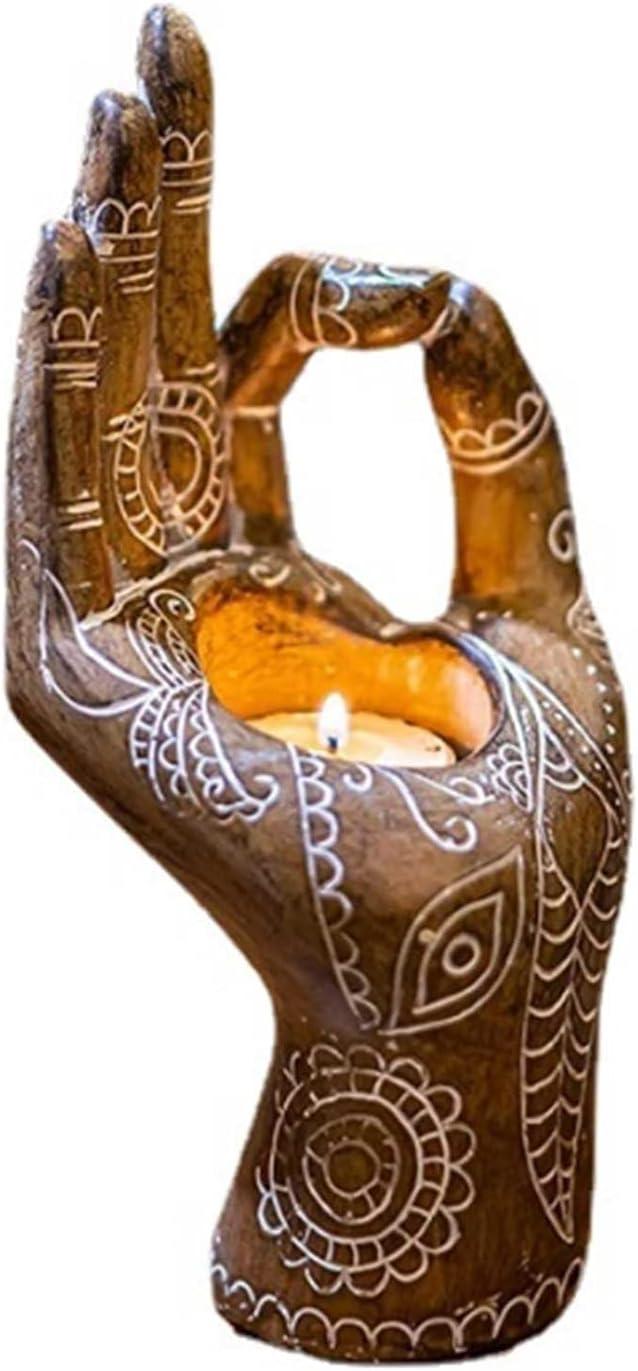 JUSTWEIXING Hand Shape Incense Burner Resin Incense Holder Incen
