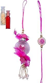 Pinoozclub luxury Pink Rakhi Lumba For Bhaiya & Bhabhi