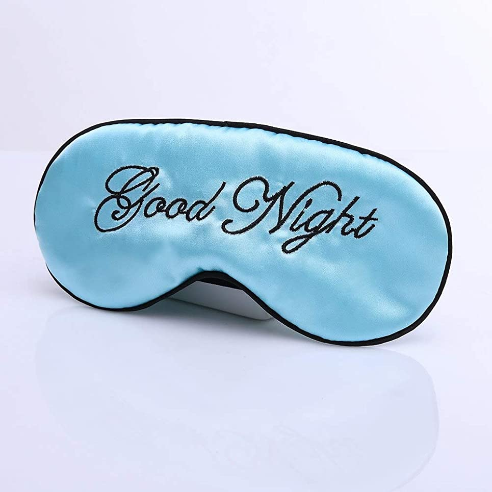 それに応じて熱帯のボトルネックNOTE 睡眠マスク刺繍模造桑シルクシェーディングかわいい睡眠アイマスクパッド入りカバー旅行リラックス補助目隠し調整可能