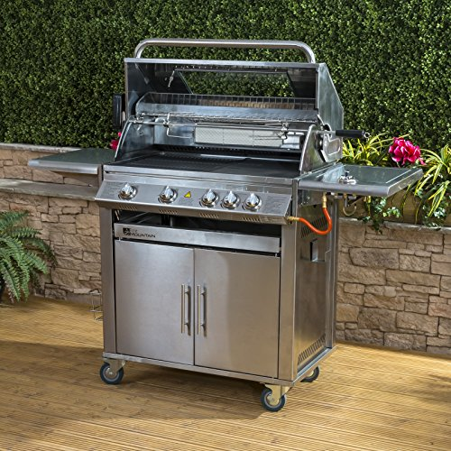 Fire Mountain Premier 4+1 Burner Gas Barbecue - Stainless Steel