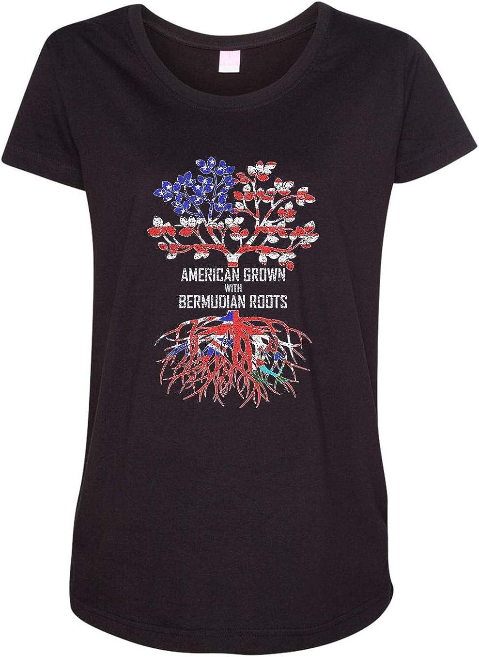 HARD EDGE DESIGN Women's American Grown with Bermudian Roots T-Shirt