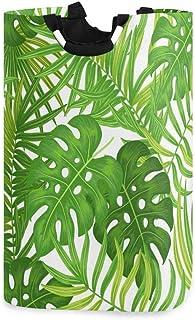 DOSHINE Grand panier à linge, sac à provisions pliable motif feuilles de palmier hawaïen exotique