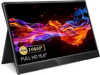 モバイルモニター EVICIV 15.6インチ 超薄型 モバイルディスプレイ IPSパネル/USB Type-C/ミニHDMI/保護ケース付 EVC-1502