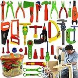 Catkoo Kids Play Pretend Toy Tool Set Set Workbench Construction Workshop Toolboxs Herramientas, Entrenamiento Perfecto Regalos De Inteligencia para Niños