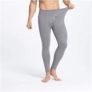LLTT Thermal Underwear Pants And Underwear Shirts Thick Men Leggings Keep Warm In Cold Winter Days Elasticity (Color : Gra...