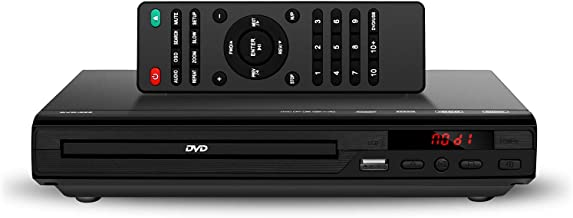 DVD Player for TV - Compact Multi Region DVD/SVCD/CD/Disc Player with Remote Control, Built-in PAL/ NTSC System, USB Port Support