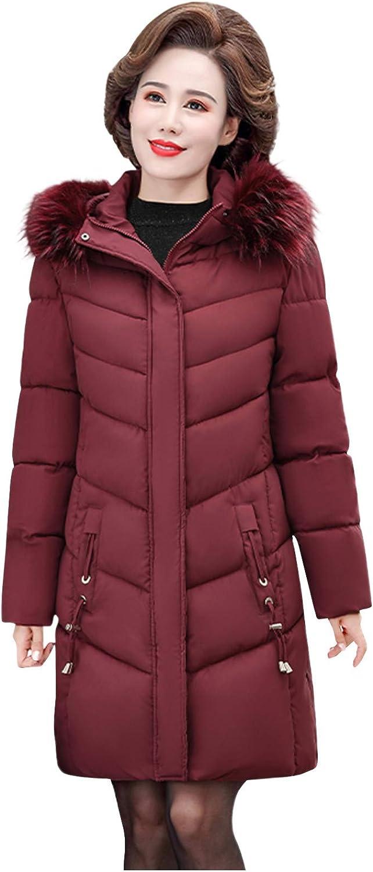 Women's Hoodies Winter Faux Fur Loose Oversized Zipper Closure Pockets Warm Coat Knee-Long