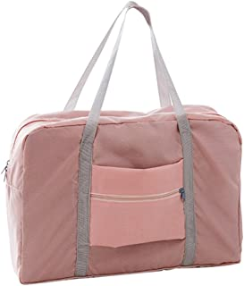 Honeytecs Travel Bag Large ty Men Foldable Waterproof Hand Luggage Nylon Traveling Duffle Bags Unisex Weekend Bags Multifunctional Women Folding Handbags Travel Bags Light Blue