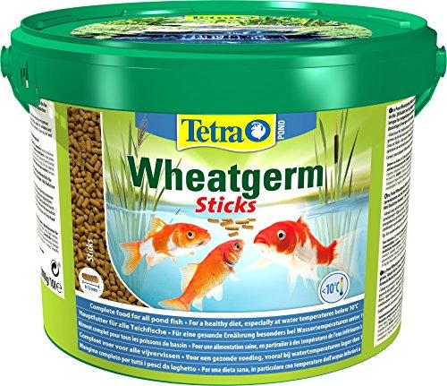 Tetra Pond Wheatgerm Sticks, Komplettfutter mit Gartenteichfisch, optimal für niedrige Wassertemperaturen im Herbst und Frühling, 10L