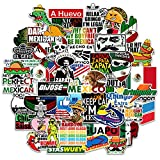 50 Hard Hat Stickers Mexican - Tool Box Sticker Pack- Mexico Funny Vinyl Decals for Hardhat Car Bumper Laptop Water Bottle Lunchbox, Mexican Pride Stickers for Adult Workers Construction Electrician