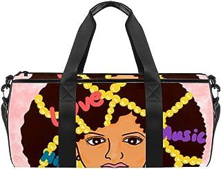 DJROWW Damen-Schultertasche mit goldenen Perlen aus Segeltuch, Reisetasche für Fitnessstudio, Sport, Tanz, Reisen, Wochenender