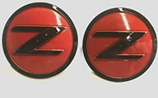 Armertek N-FDZR Pair of 2 350Z 370Z Fairlady Z Z33 Z34 Z Side Red Black Fender Emblem Badges for Nissan Replaces 63890-CD10A