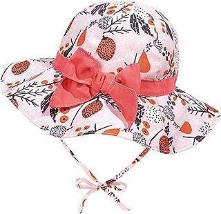 Hifot Chapeau Bebe Fille ete Anti UV Fille Chapeau de Soleil Bébé Filles Enfant Chapeau de Soleil Unisexe en Pliable Prote...