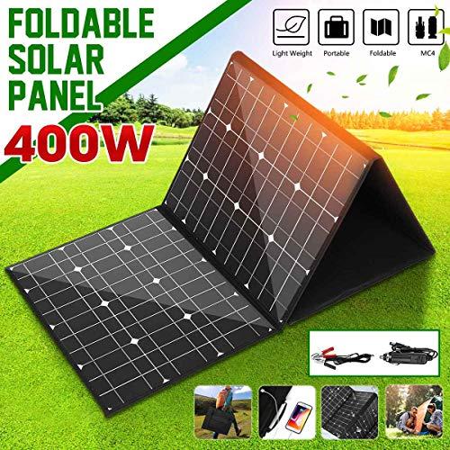 HMLIGHT 18V 400W Solar Panel Monocrystallinel Solarzellen Folding Paket mit 1,5 m Kabel + USB-Schnittstelle DC Set für Arbeiten im Freien