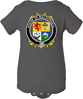 Tenacitee Baby's Irish House Heraldry Macdonnell of The Glens Bodysuit