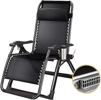 Amazon.com: Tumbona reclinable plegable para jardín, terraza ...