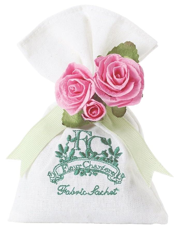 対立日付スロベニア芳香剤 フルールシャンテ カルム ファブリックサシェ スウィートローズ OA-RZS-3-2
