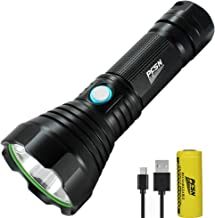 Powerful CREE LED Torch USB Rechargeable PFSN Tactical Flashlight Super Bright Small Torches Brightest 1000 Lumens with 4 ...
