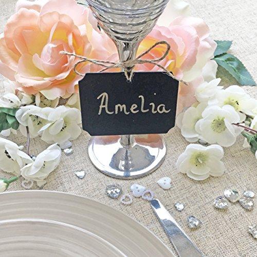 Mini houten bord vierkant slinger dag perfect voor vintage bruiloft tabellen plaatsnaam & decoratie