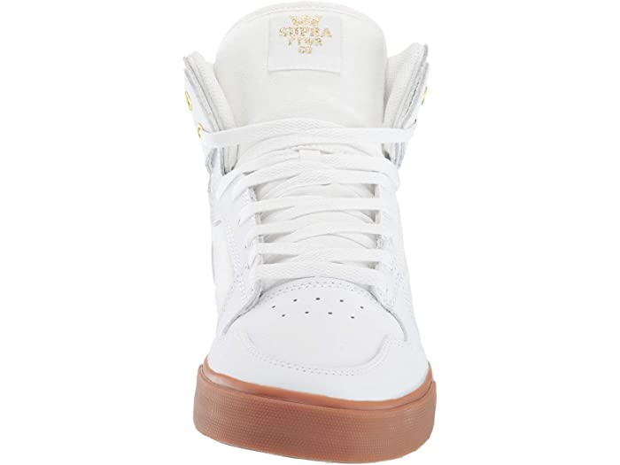 Supra Vaider White/gold/light Gum Sneakers & Athletic Shoes