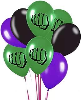 The Incredible Hulk Theme Emblem Party Latex 8 Piece Balloon Set 12 Inch
