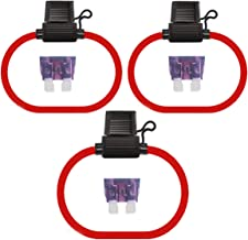 Inline Fuse Holders & Fuses Kit - Muhize 10 Gauge Waterproof Standard APR ATO ATC Fuse Holder with 40AMP Standard Fuse (3 Pack)
