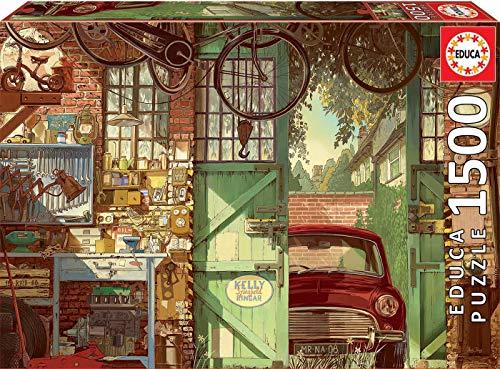 Educa - Old Garage, Arly Jones Puzzle, 1500 Piezas, Multicolor (18005)