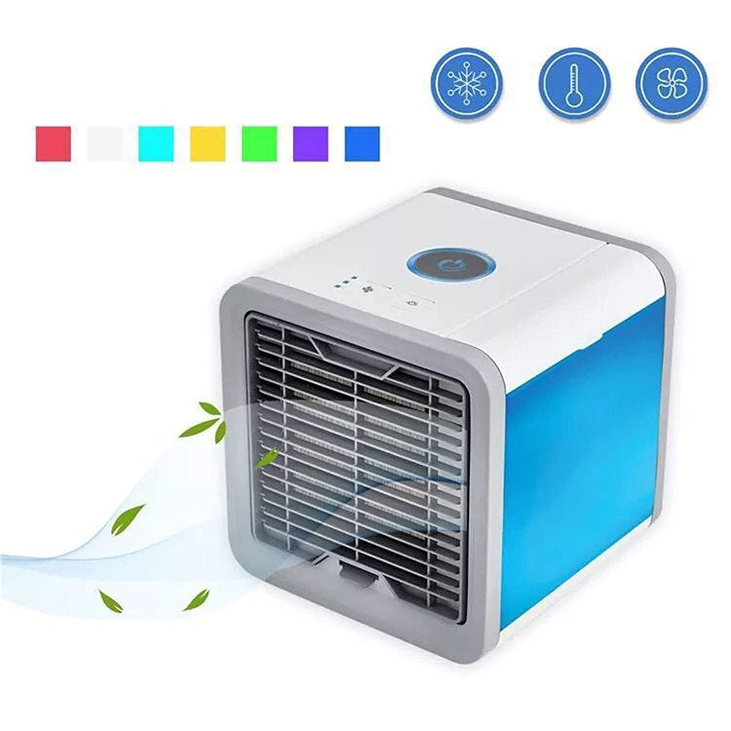 KEYUAN Evaporative Portable Air Conditioner Household air Cooler Humidifiers USB Mini Table Fan for Office