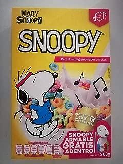 Snoopy Cereal Multigrano Sabor a Frutas 300 g Snoopy Armable Gratis Adentro De La Caja Colecciona Los 15 Diferentes