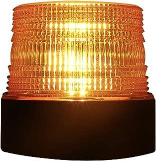 Flypc Wireless 12 LED Amber Emergency Strobe Light Magnetic Flashing Warning, Led Strobe Light, for Truck Vehicle With Magnetic Base, USB Charging + Car Charging(Amber)