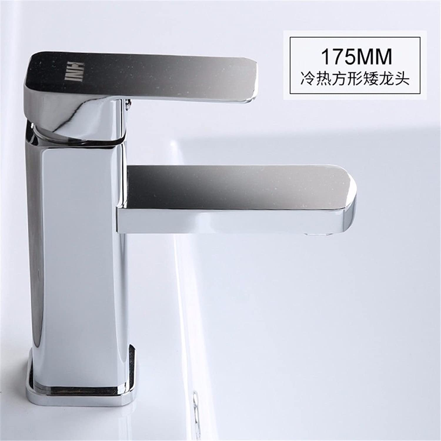 AQMMi Bathroom Sink Mixer Tap Single Lever Brass Hot and Cold Water Taps for Bathroom Sink