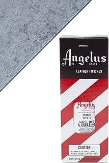 angelus dark grey suede dye