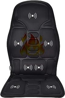 مدلك الظهر مع الحرارة، وسادة تدليك السيارة، جهاز التحكم عن بعد / مؤقت/حرارة/3 مستويات من الكثافة الكامل في الظهر تدليك شيا...