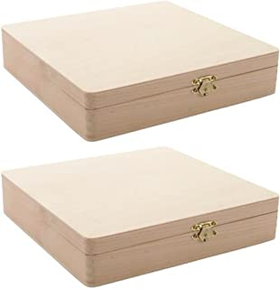 2-Pack - Darice 9180-06 Unfinished Cigar Box, 8.375