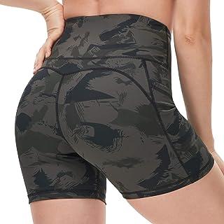 "DILANNI High Waist Yoga Shorts for Women Workout Running Athletic Biker Shorts Side Pockets 5"""