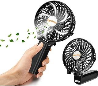 携帯扇風機 バッテリー内蔵 充電式 扇風機 手持ち 2000mAh 卓上扇風機 折りたたみスタンド機能 最大4/8時間動作 3段階風量調節 USB扇風機 超静音 ミニ 小型扇風機 6枚羽根 熱中症 暑さ対策 オフィス アウトドア用
