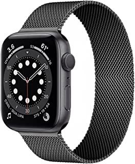 eWINNER Stainless Steel Milanese Loop Band smart watch strap metal magnetic replacement band compatible with Apple watch i...
