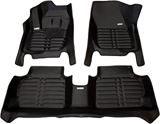 TuxMat Custom Car Floor Mats for Ford Fusion 2013-2016 Models - Laser Measured, Largest Coverage, Waterproof, All Weather. The Best Ford Fusion Accessory. (Full Set - Black)